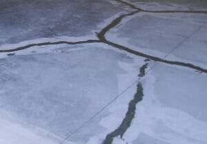cracks repaired on a garage floor