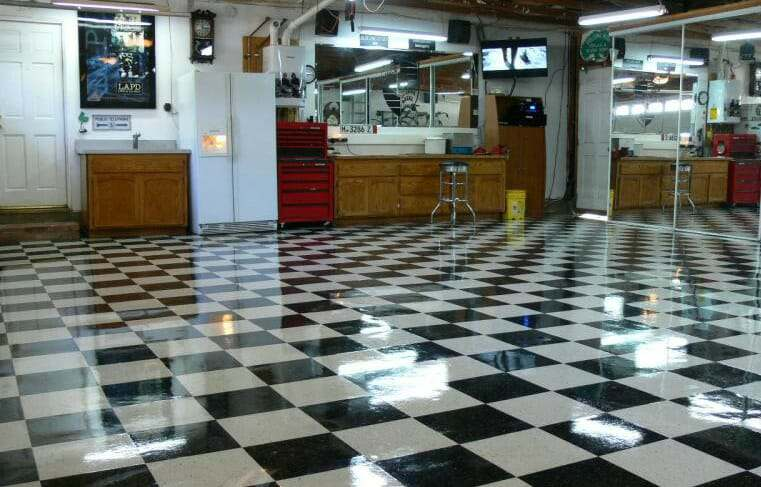 VCT garage flooring  vinyl composite tile Choosing Garage Floor Tiles Best Options to the Cheapest All