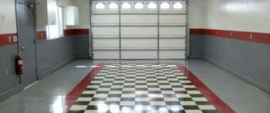 vct tile garage flooring