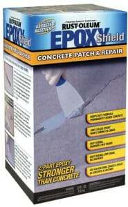 EpoxyShield epoxy patch for garage floor pitting and spalling