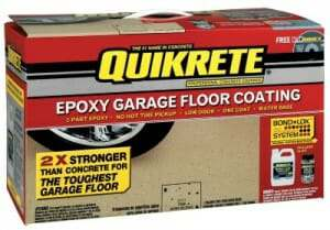 The Rust Oleum Epoxyshield 2 Gal Gray High Gloss Part Epoxy Garage Floor Coating Kit Is Easy To Ly With A Brush Concrete Surfaces