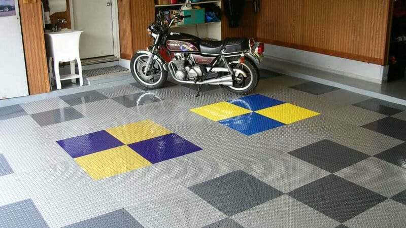 Raceday L And Stick Vinyl Garage Floor Tiles