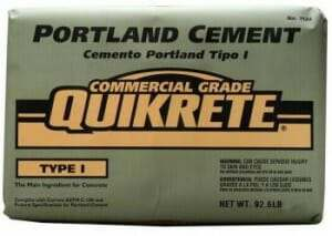 using Portland cement for cleaning oil off of concrete