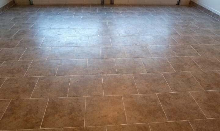 porcelain tile garage floor