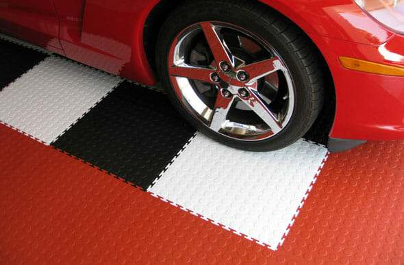 PVC Rubber Interlocking Garage Floor Tiles