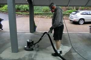 grinding garage floor with diamabrush rental