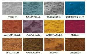 metallic epoxy color chart