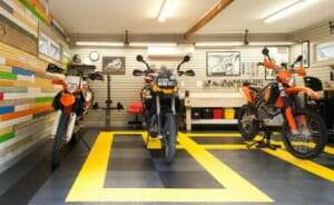 interlock garage floor tile for motorcycles 2