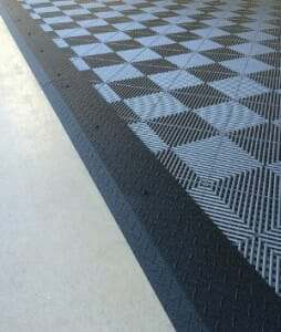 black diamond plate transition strips for interlocking floor tile