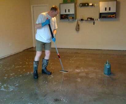 acid etch garage floor for epoxy installation
