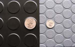 G-Floor small coin garage floor mat compared to standard coin mat