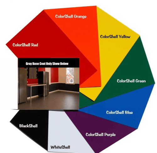 Rust Bullet floor coating color chart