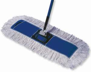 epoxy floor cleaning dust mop