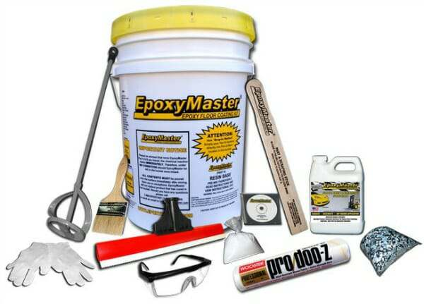 epoxymaster garage floor coating kit