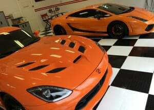 The Orange Twin V10 RaceDeck Garage Floor Project