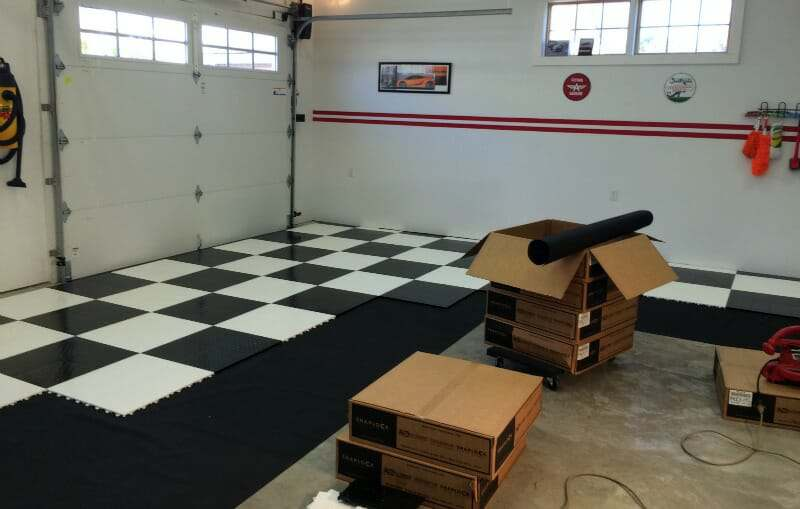 racedeck interlocking tile installation project