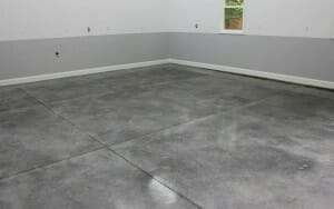 Polished look of a densifier sealed garage floor