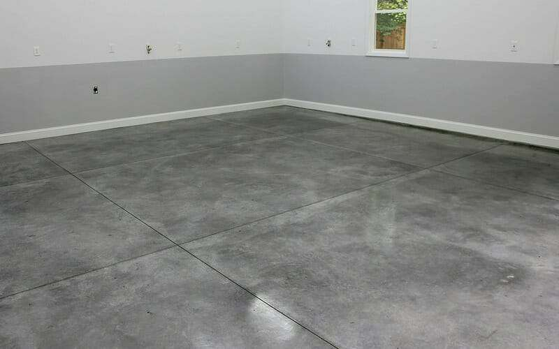 Densifier with stainguard gets a polished garage floor for How to clean cement floor