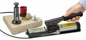 Adhesion tester for concrete coatings