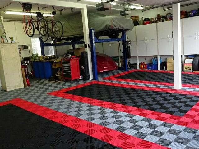 RibTrax interlocking garage floor tile by SwissTrax