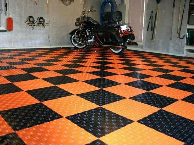 Harley Davidson interlocking garage floor tiles