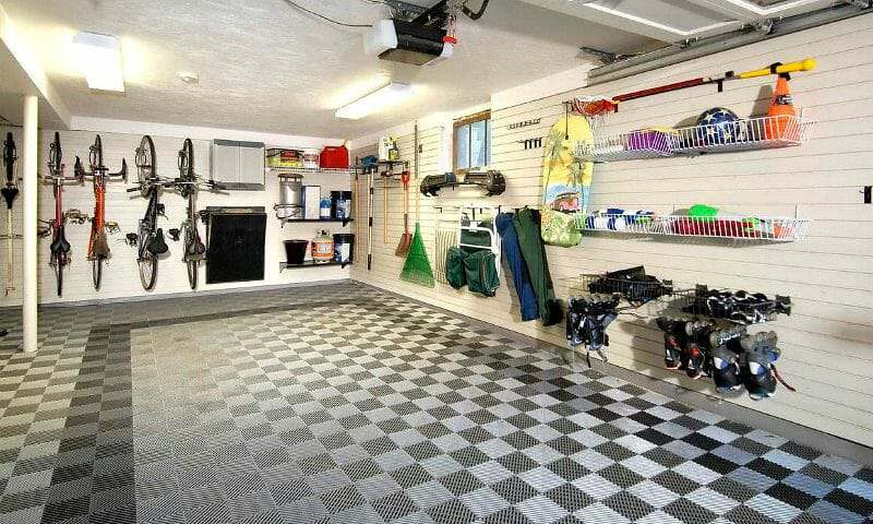 TrueLock HD Flow-Through self-draining garage floor tile
