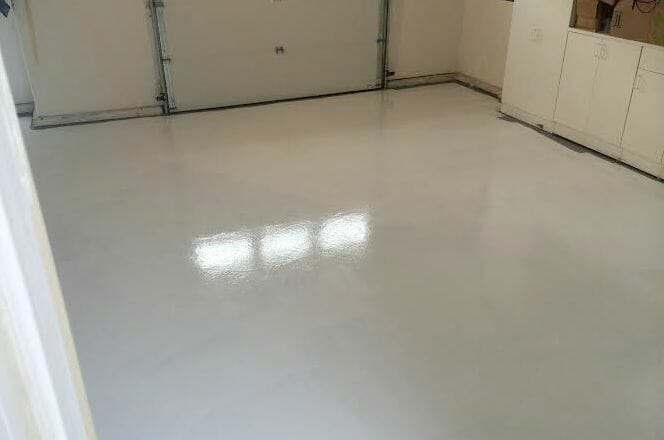 White garage floor coating and paint