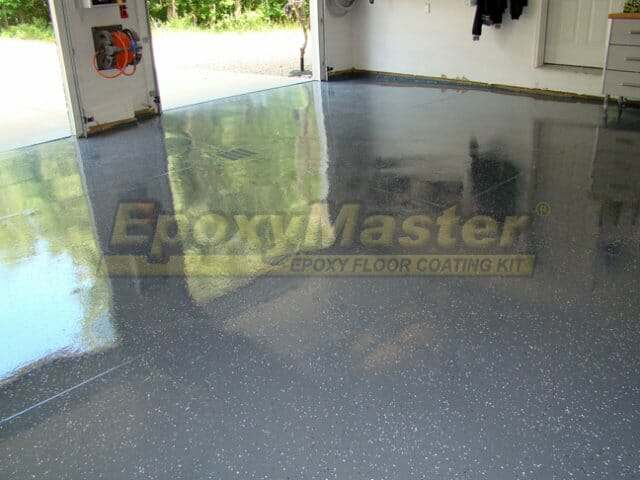 gray epoxy garage floor coating option