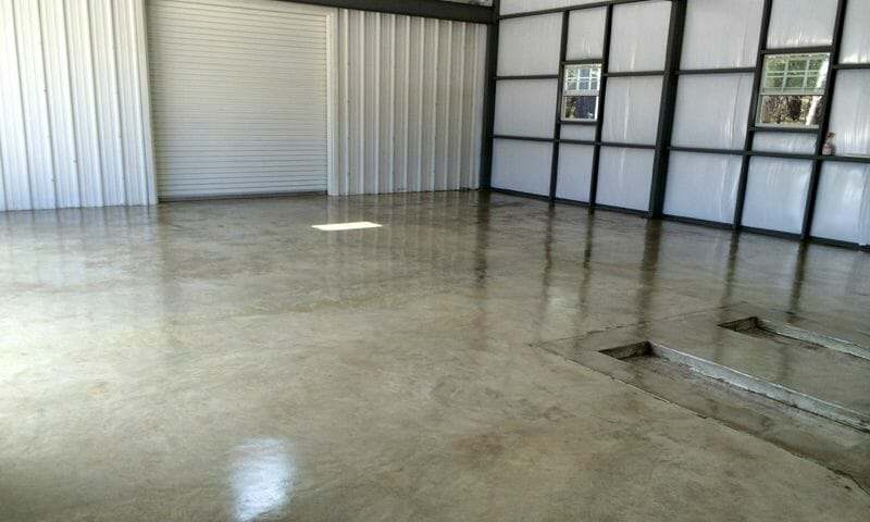 Clear garage floor epoxy coating