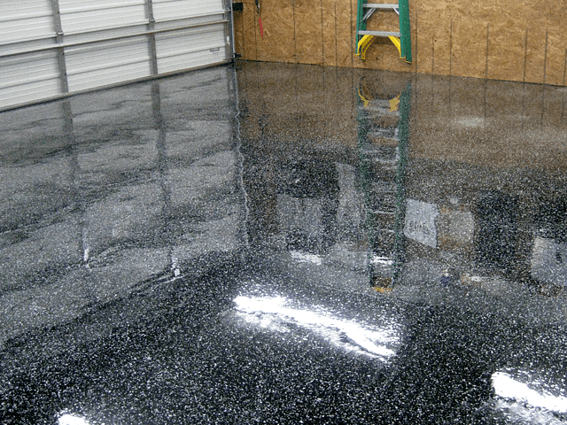 Black garage floor epoxy