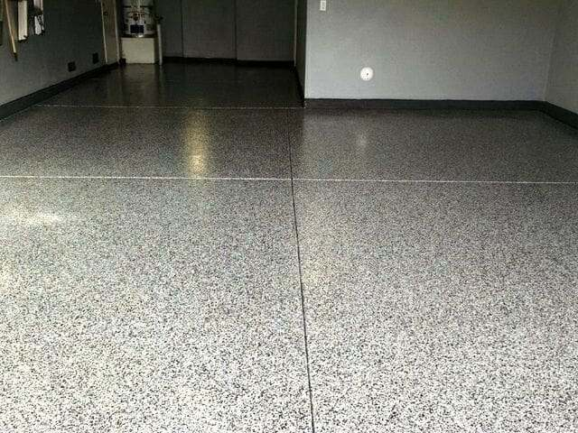 Granite garage floor epoxy system