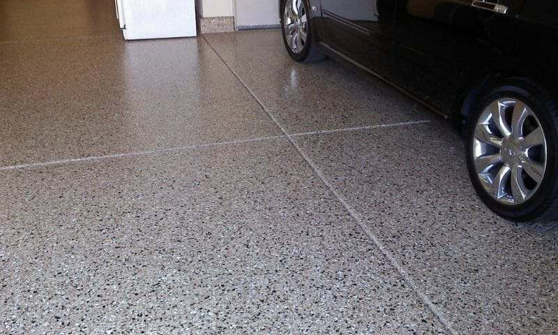 Granite style garage floor epoxy