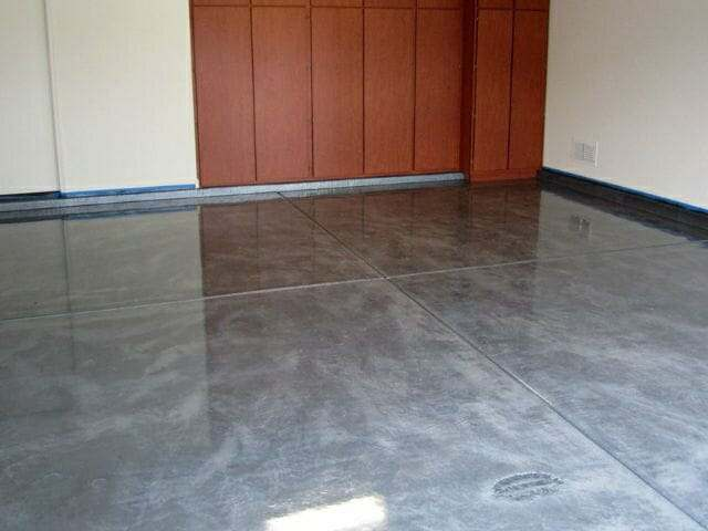 Metallic epoxy garage flooring option