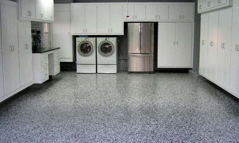 gray polyurea polyaspartic garage floor coating