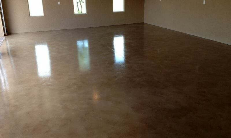 Tinted polyurea garage floor coating system