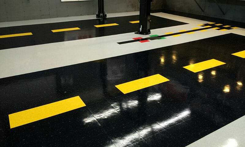 VCT garage floor tile