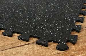 Home gym rubber flooring tiles