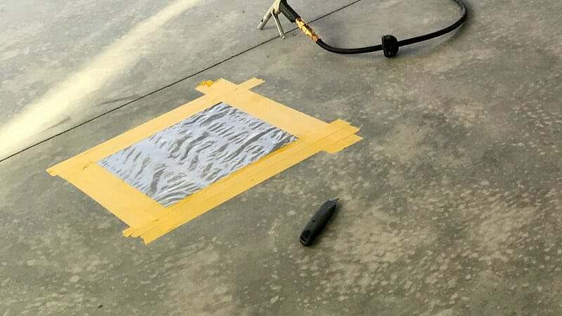 Plastic sheet moisture test