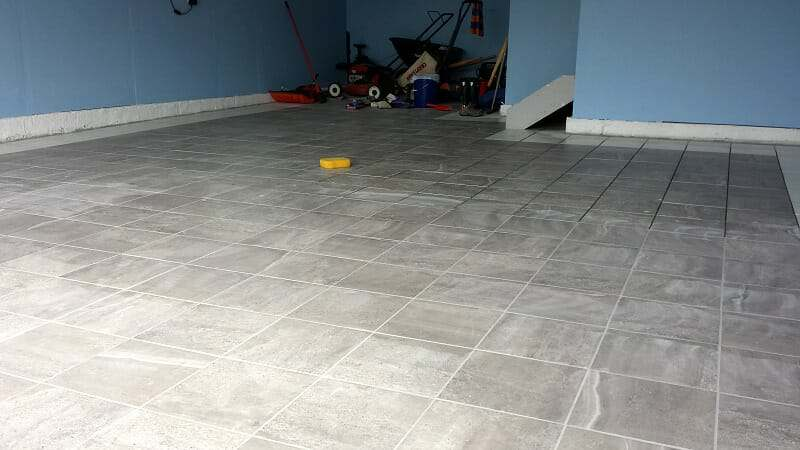 intalling-porcelain-tile-garage-floor