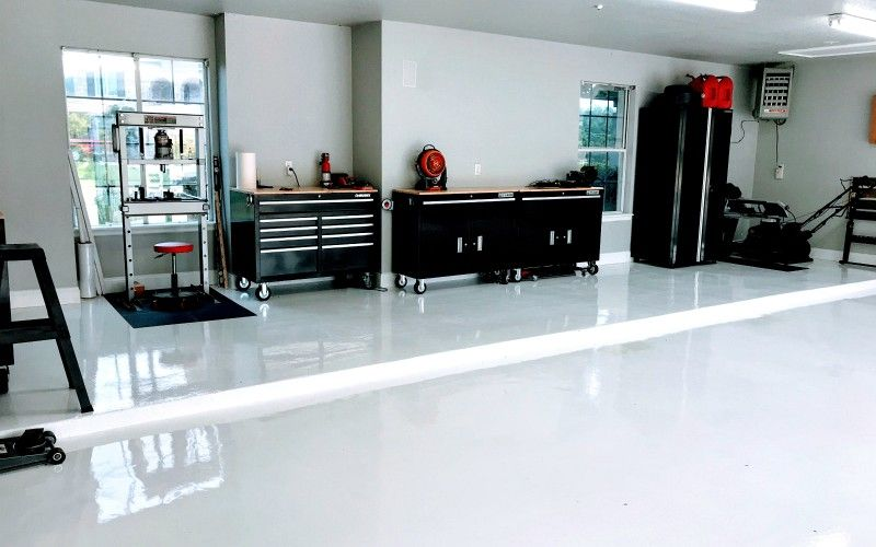 We Review A Stunning White Epoxy Garage Floor By Armorpoxy